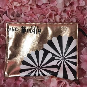 Handbags - Rose gold makeup bag